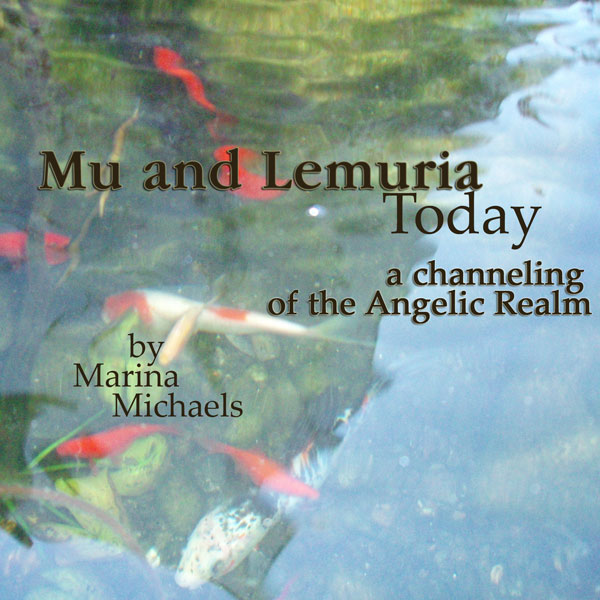 Album art for Mu and Lemuria Today; a fish pond with album text